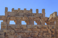Ruína das colunas gregas do templo - Sicília, Itália Fotografia de Stock