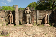 Ruína de Polonnaruwa, ruínas de Hatadage, Sri Lanka Fotos de Stock