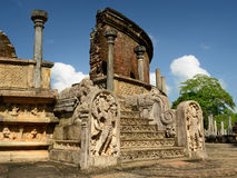 Ruína de Polonnaruwa, Vatadage (casa redonda), Sri Lanka Foto de Stock Royalty Free
