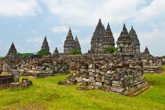 Ruína de Prambanan, Yogyakarta, Java, Indonésia Fotos de Stock Royalty Free