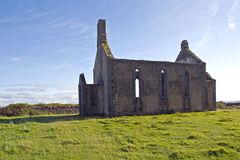 Ruína de uma igreja medieval Imagens de Stock
