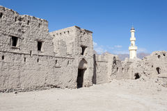 Ruína de uma vila omanense velha foto de stock