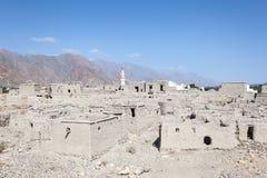 Ruína de uma vila omanense velha imagem de stock