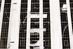 Ruína destruída Demolished filtrada da indústria fora fotografia de stock royalty free