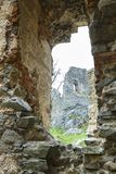 Ruína do castelo de Gymes imagem de stock royalty free