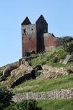 Ruína do castelo de Hammershus Localizado na ilha Bornholm, Denmmark foto de stock