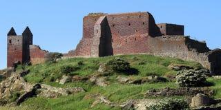 Ruína do castelo de Hammershus Localizado na ilha Bornholm, Denmmark fotografia de stock