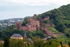 Ruína do castelo de Wertheim Fotos de Stock Royalty Free
