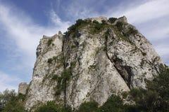 Ruína do castelo Devin Foto de Stock Royalty Free