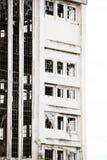 Ruína industrial destruída Deserted filtrada fora foto de stock