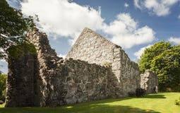 Ruína medieval da igreja de Rya Foto de Stock Royalty Free