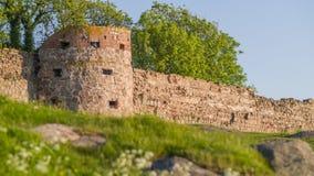 Ruína medieval da torre do castelo Imagens de Stock