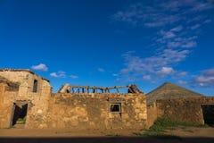 Ruína na Espanha das ilhas de Oliva Fuerteventura Las Palmas Canary do La Foto de Stock