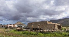 Ruína na Espanha das ilhas de Oliva Fuerteventura Las Palmas Canary do La Imagem de Stock