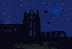 Ruína na noite Ilustração Royalty Free