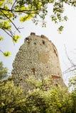 A ruína romântica, meninas fortifica em Palava, checo Imagem de Stock Royalty Free