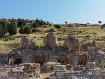Ruínas antigas da cidade grega velha de Ephesus Foto de Stock Royalty Free