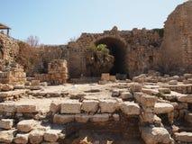 Ruínas antigas de Caesarea Israel Imagens de Stock Royalty Free
