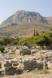 Ruínas antigas de Corinth Imagens de Stock Royalty Free