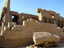 Ruínas antigas de Egipto imagens de stock royalty free