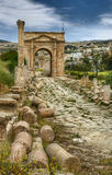 Ruínas antigas de Jerash, Jordão Foto de Stock