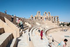 Ruínas antigas do anfiteatro Imagem de Stock Royalty Free