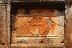Ruínas antigas do cristão em Delphi Fotos de Stock