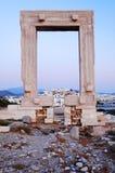 Ruínas antigas do grego do beira-mar imagens de stock