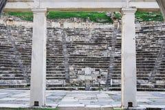Ruínas antigas do teatro da cidade antiga dos Aphrodisias, Aydin/Turquia imagens de stock royalty free
