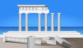 Ruínas antigas do templo ilustração royalty free