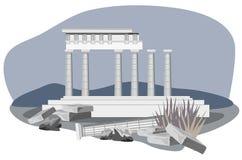 Ruínas antigas do templo ilustração stock