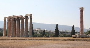 Ruínas antigas em Athenes, Greece Imagem de Stock