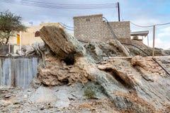 Ruínas antigas em uma vila velha em Muscat foto de stock royalty free