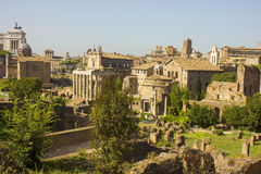 Ruínas antigas famosas em Roma Fotos de Stock Royalty Free