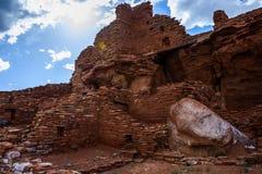 Ruínas antigas Monumento nacional de Wupatki no Arizona Foto de Stock
