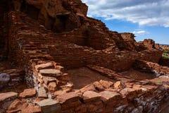 Ruínas antigas Monumento nacional de Wupatki no Arizona Fotos de Stock Royalty Free