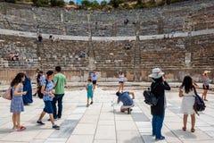 Ruínas antigas na cidade antiga histórica de Ephesus foto de stock