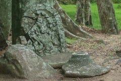 Ruínas antigas, Sri Lanka fotografia de stock