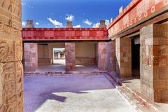 Ruínas antigas Teotihuacan Cidade do México México do palácio de Quetzalpapalol Fotos de Stock Royalty Free