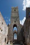 Ruínas antigas velhas do irish no ao oeste de ireland fotos de stock royalty free