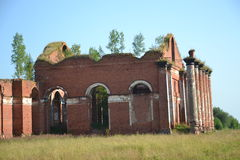 Ruínas, casernas, a antiguidade, história, cidade, Rússia Fotos de Stock