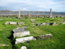 Ruínas celtas do cemitério em Escócia Fotografia de Stock