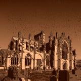 Ruínas da abadia da melrose Imagem de Stock Royalty Free