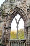 Ruínas da abadia de Holyrood fotografia de stock
