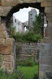 Ruínas da abadia de Jervaulx quadro em um arco Imagens de Stock