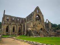 Ruínas da abadia de Tintern, uma antiga igreja em Gales Fotografia de Stock Royalty Free