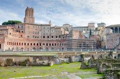 Ruínas da antiguidade do fórum romano em Roma Foto de Stock Royalty Free