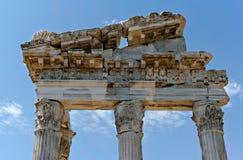 Ruínas da antiguidade em Ephesus Fotos de Stock Royalty Free