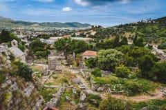 Ruínas da barra velha, Montenegro Imagem de Stock