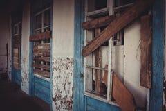 Ruínas da casa velha do tijolo de Tomasz Wawzecki Vila de Vidzy Fotografia de Stock